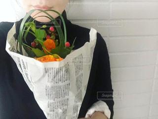 花束の贈りものの写真・画像素材[3084377]