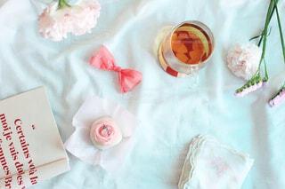 女性,食べ物,スイーツ,花,ピンク,和菓子,バラ,薔薇,デザート,おやつ,リボン,お菓子,和,和スイーツ,テキスト