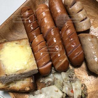 朝食,パン,ワンプレート,サンドイッチ,モーニング,ソーセージ,プレート,ジョンソンヴィル