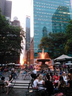 風景,公園,夕日,海外,夕暮れ,アメリカ,タワー,都会,人物,人,America,通り,ニュヨーク