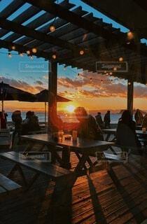 海辺のカフェの写真・画像素材[4837577]