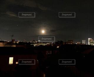 自然,風景,空,夜,夜景,屋外,東京,都会,月,満月