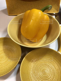 キッチン,黄色,皿,イエロー,パプリカ