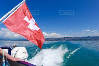 レマン湖(スイスからフランスへ)での移動の写真・画像素材[1821754]