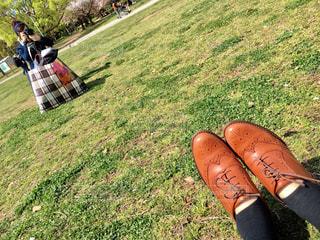 公園で撮り合いっこの写真・画像素材[1828642]