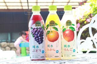並べた小岩井純水果汁の写真・画像素材[2214640]