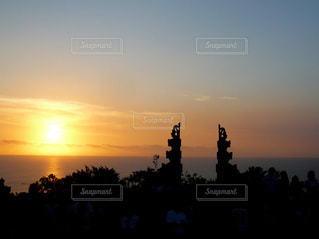 バリの夕焼けの写真・画像素材[3397837]