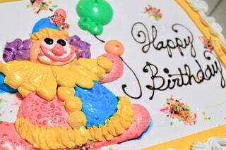 大きな誕生日ケーキの写真・画像素材[3977438]
