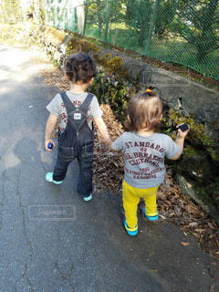 散歩,仲良し,男の子,兄弟,孫