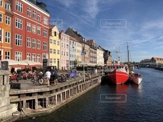 街並み,青空,船,ヨーロッパ,港,デンマーク,海外旅行,ひとり旅,コペンハーゲン