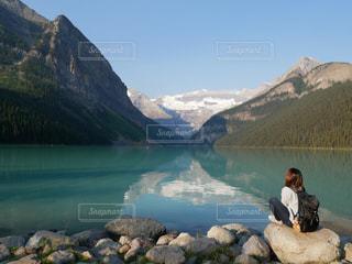 自然,風景,湖,晴天,カナダ,カナディアンロッキー
