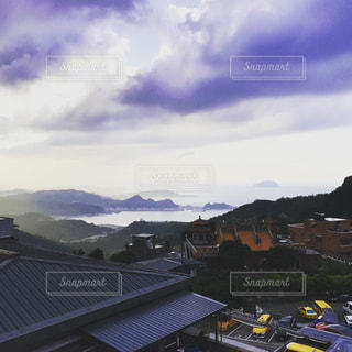 風景,青空,台湾,九份,海外旅行,バス停降りてすぐ