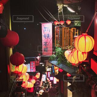 ライトアップ,台湾,九份,海外旅行,石段,ナイトスポット