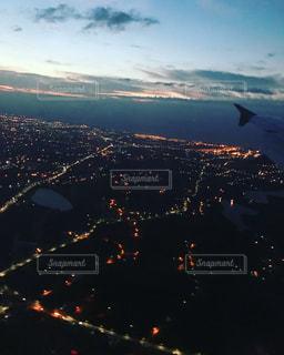 夜景,海外旅行,台湾上空