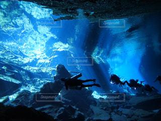 自然,絶景,水中,旅行,旅,神秘的,海外旅行,ダイビング,鍾乳洞,ダイバー,メキシコ,セノーテ,中米,ケイブダイビング