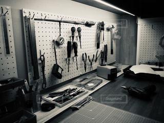 店の白黒写真の写真・画像素材[2812018]