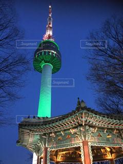 夜景,屋外,観光,ライトアップ,韓国,海外旅行,ソウルタワー,ソウル
