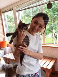 猫,Tシャツ,休日,猫カフェ,私,ラフ,半袖