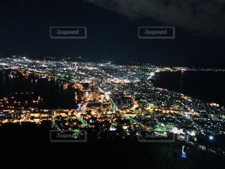 夜,夜景,屋外,綺麗,山,キラキラ,旅行,可愛い,人混み,遊び,休日,函館,頂上,ファンシー