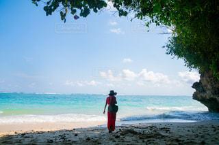 風景,夏,赤,砂,ビーチ,砂浜,海岸,人物,人,旅行