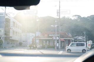 車,道路,フィルム,マクドナルド,ドライブ,フィルム写真,フイルム風,フィルムフォト