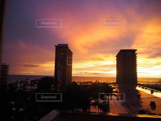 空,綺麗,夕焼け,アメリカ,レインボー,旅行,旅,ホテル,ハワイ