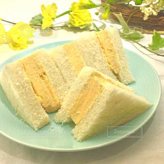 食べ物,花,春,黄色,サンドウィッチ,ミモザ,たまごサンド,イエロー,黄,yellow