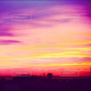 空,夕日,赤,夕暮れ,紫,黄色,夕方,パステル,夕陽,色彩,夕暮,彩