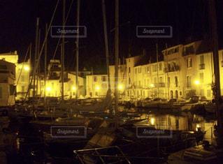 夜,海外,旅行,港,フランス,ヨット,灯,マルセイユ