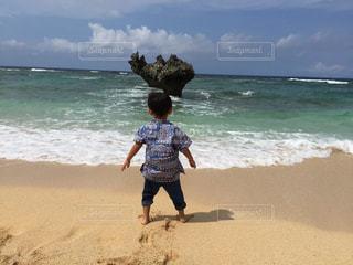 海,空,ビーチ,砂浜,海岸,子供,ハート岩