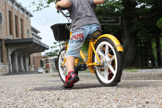 子ども,夏,自転車,屋外,後ろ姿,人物,後姿