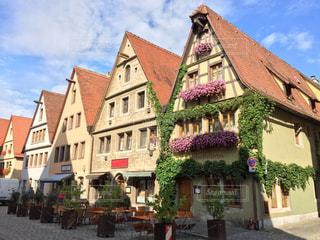 建物,花,海外,ヨーロッパ,レンガ,家,旅行,メルヘン,ドイツ,海外旅行,ローテンブルク