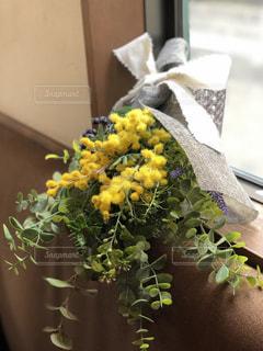 花,ミモザ,スワッグ