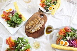 食べ物,朝食,ランチ,テーブル,皿,サラダ