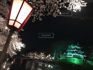 夜の街の景色の写真・画像素材[1864356]