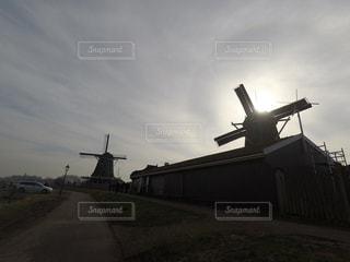 風景,屋外,風車,ヨーロッパ,景色,影,オランダ,日射し,雰囲気,日中