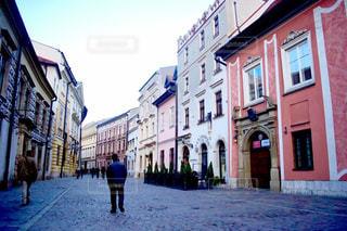 風景,建物,街並み,ピンク,カラフル,ヨーロッパ,景色,街,家,色とりどり,通り