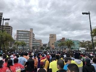 風景,空,群衆,スポーツ,ジョギング,ランニング,マラソン,運動,鹿児島マラソン