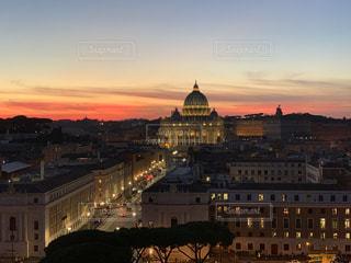 夕焼け,ローマ,旅,イタリア,バチカン市国,サン・ピエトロ