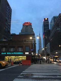 風景,ニューヨーク,街並み,ネオン,ストリート,マンハッタン,エンパイアステートビル