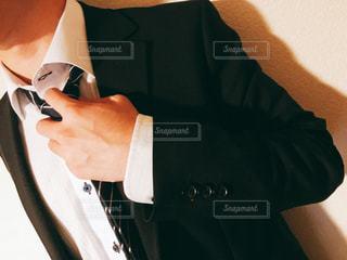 手、首をネクタイの写真・画像素材[1847039]