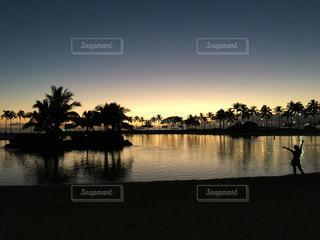 風景,夕暮れ,旅行