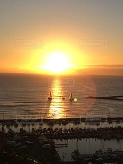 自然,風景,海,屋外,太陽,夕暮れ,水面,海岸,旅行