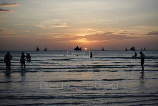 海,夕日,雲,海岸,フィリピン,リゾート,海外旅行,ボラカイ