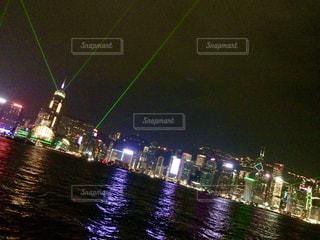 風景,夜景,香港,ビクトリアハーバー,シンフォニーオブライツ