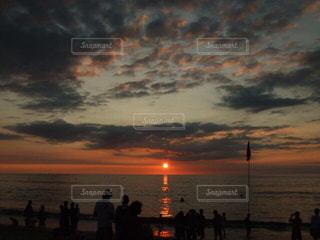風景,海,太陽,ビーチ,夕陽,サンセット,バリ島,インドネシア