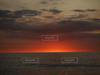 海,空,ビーチ,夕焼け,バリ島,インドネシア