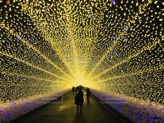 冬,綺麗,黄色,鮮やか,光,イルミネーション,トンネル,三重,yellow
