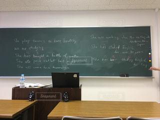 英語,机,黒板,教室,TOEIC