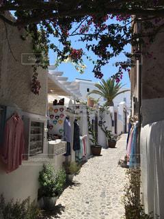 建物,夏,島,小道,旅行,ギリシャ,海外旅行,サントリーニ,通り,休暇